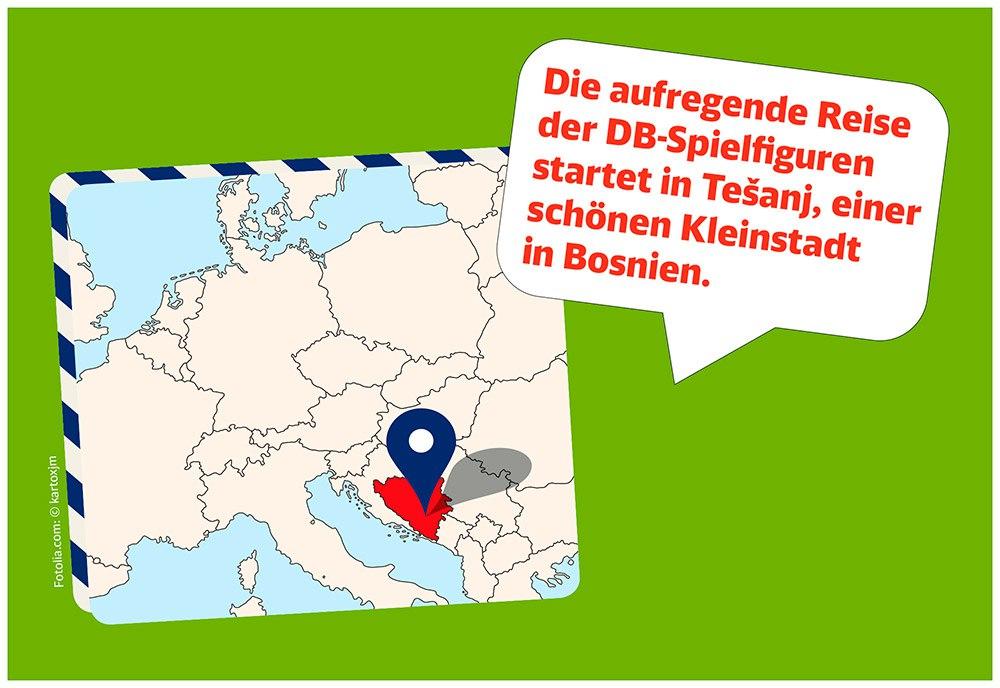 Station 1:  Die Entfernung zwischen der Fertigung in Tešanj und dem Logistikzentrum Karlsruhe beträgt 1.120 Kilometer.