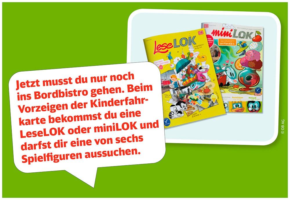 Station 6: In den Kindermagazinen findest du alles rund ums Bahnfahren, Rätsel, Malspaß, Witze und die neuesten Abenteuer vom kleinen ICE und seinen Freunden.