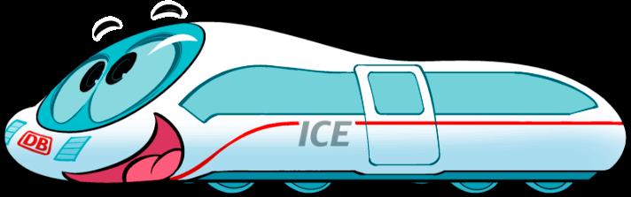 Kleiner ICE schaut nach oben