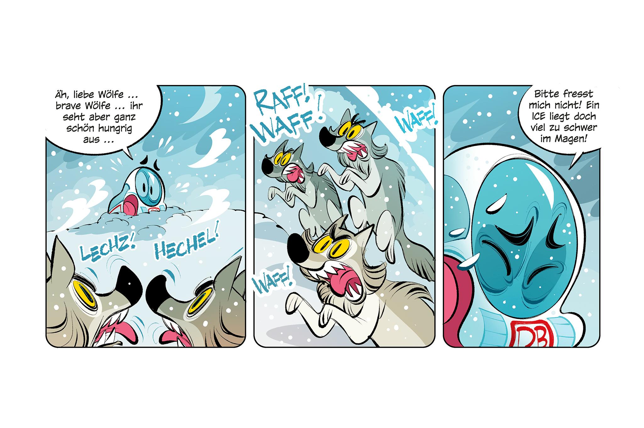 Comic: Der kleine ICE ... im ewigen Eis