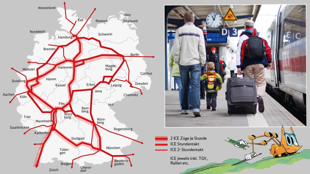 In der Zukunft wird das Streckennetz viel besser und öfter befahren