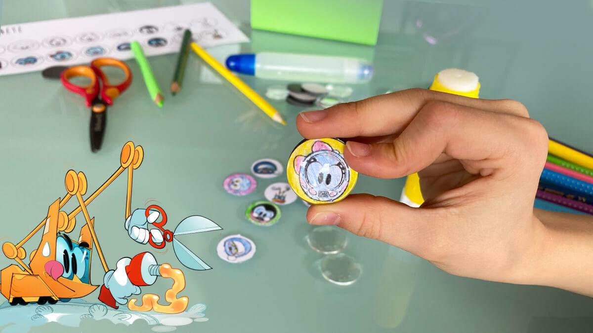 Bastelei 1: Glänzende Glasmagnete vom kleinen ICE und seinen Freunden