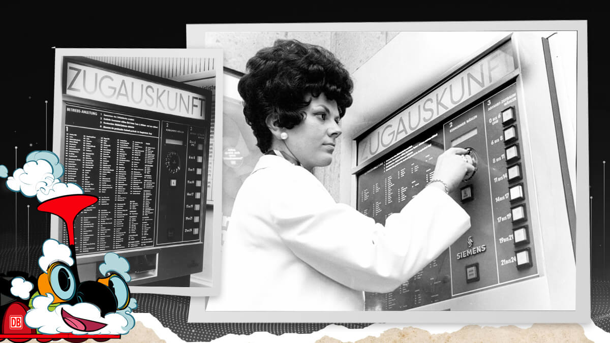 Der Zugauskunft-Automat konnte in 4.000 Zugverbindungen und nach 400 Bahnhöfen suchen