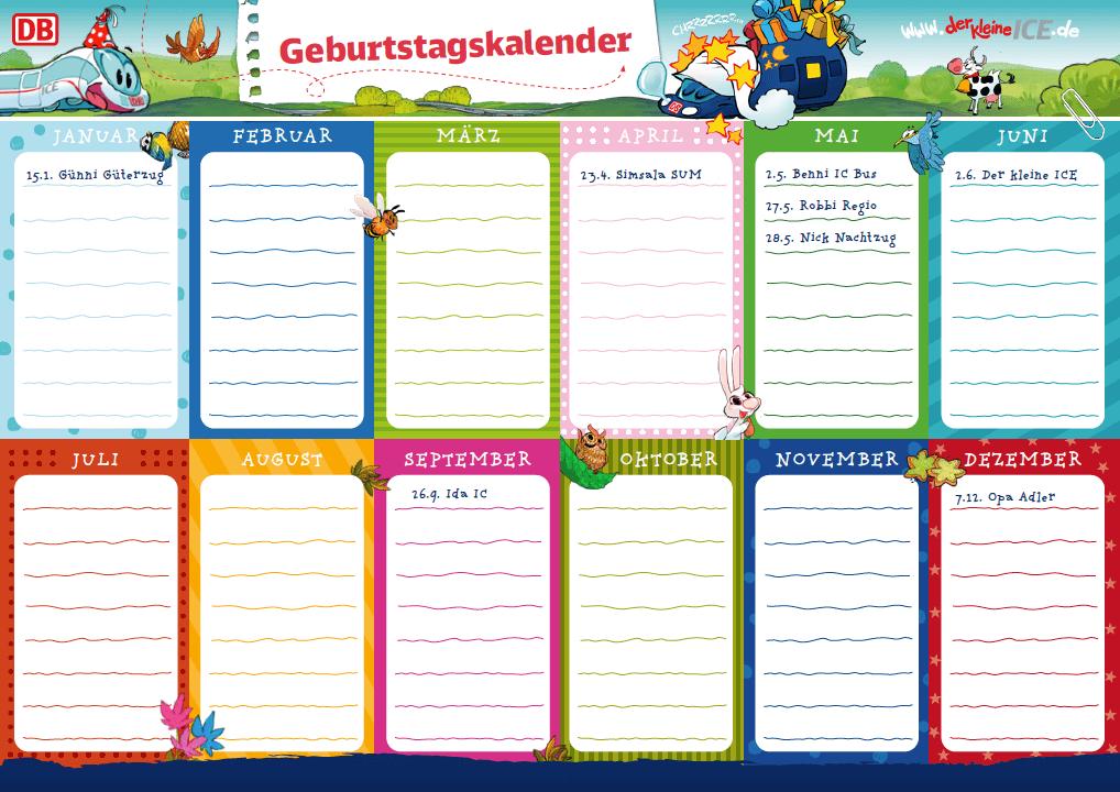Jubiläum-Extra: Geburtstagskalender