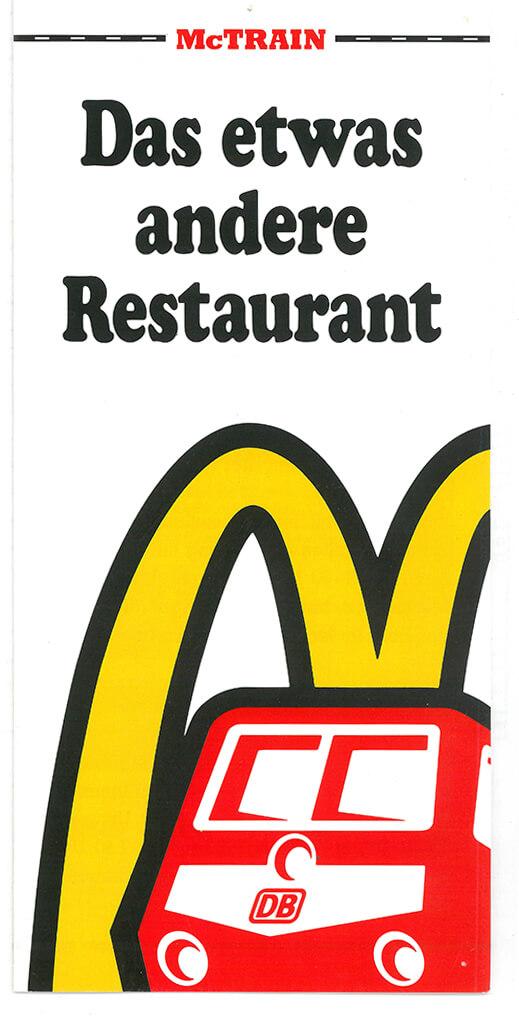 McDonald's einen McTrain-Speisewagen. /© Sammlung DB AG