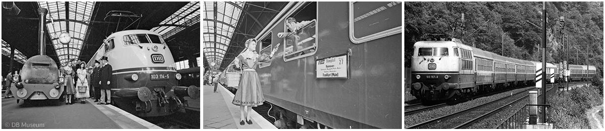 Der Intercity löst den F-Zug ab. Premierenfahrt in Wiesbaden am 30.09.1971