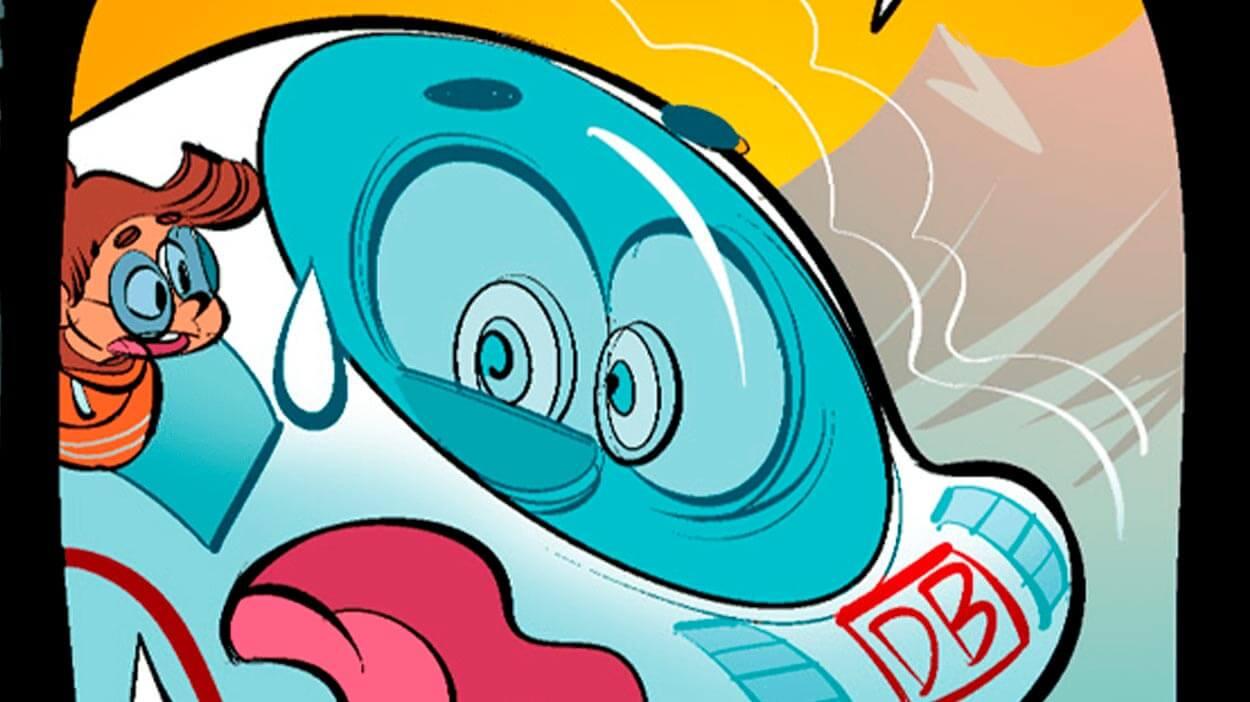 Teaserbild Comic Der kleine ICE und die Mutprobe