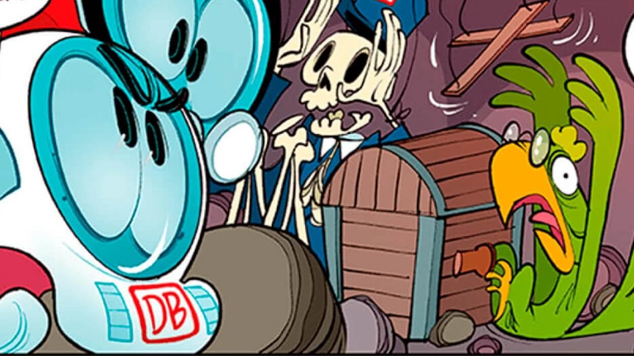Teaserbild Comic Die Schatzfahrerkarte