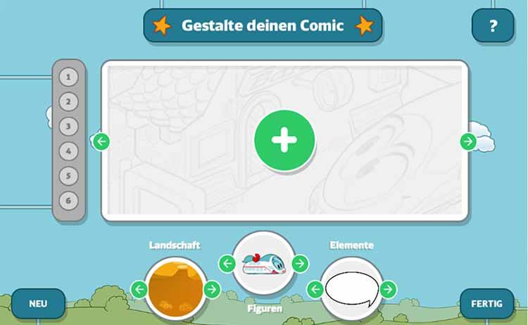 Screenshot Spiel Comic Creator