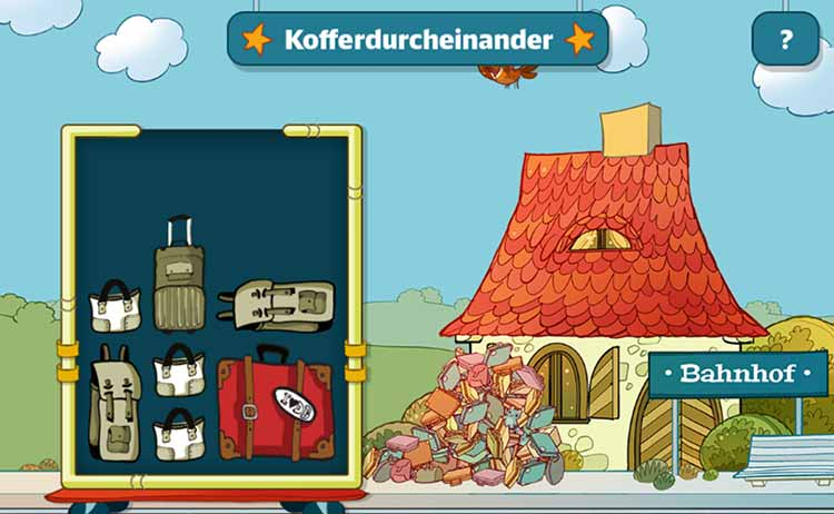 Screenshot Spiel Kofferdurcheinander