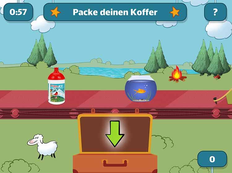 Screenshot Spiel Packe deinen Koffer